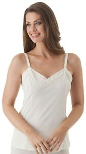 ShadowLine Lace Trim Camisole With Adjustable Strap (22304)