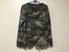 f34edd885 Boys Thermal Style Pullover Shirt Size M 8 Camo Long Sleeve Faded Glory 167