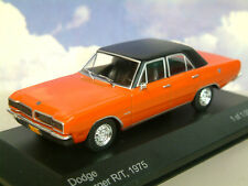 WHITEBOX DIECAST 1/43 1975 DODGE CHARGER R/T 4 DOOR IN RED WITH BLACK ROOF WB148
