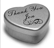 Decir gracias Jon con un Mini Corazón Lata Regalo presente Con Chocolates