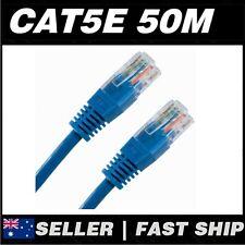 1x 50m Cat 5 5E Cat5 Cat5E Blue  Ethernet Network LAN Patch Cable Lead