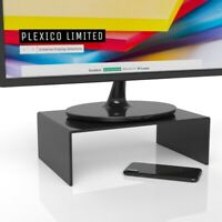Black Computer Monitor Stand / Display Screen Riser W/D/H 250mm / 200mm / 75mm