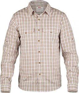 Fjäll Räven Abisko Cool Shirt Ls Men, Men's Long Sleeve Shirt, Limestone SIZE S