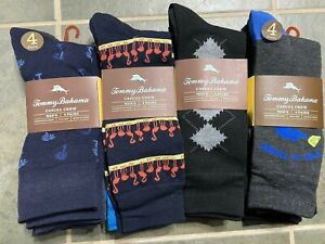 NWT Tommy Bahama Men's 4pk Casual Crew Socks One Size $22