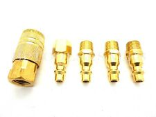 5 Pc Brass Coupler Quick Connect Coupler Set Air Compressor Hose NEW