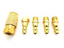 5 Pc Brass Coupler Quick Connect Coupler Set Air Compressor Hose NEW