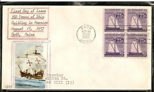 SCOTT 1069 SHIP BUILDING HAND MADE FIRST DAY COVER
