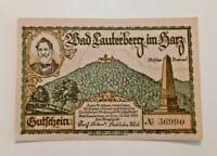BAD LAUTERBERG NOTGELD 300 PFENNIG 1921 NOTGELDSCHEIN (11104)