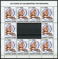 Sierra Leone Mahatma Gandhi Stamps 2019 MNH Famous People 10v M/S