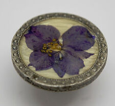 Flower Pressed Purple Organic Knob Cabinet Cupboard Door Drawer Hardware