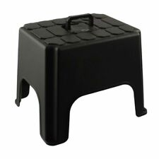Step Stool With Carry Handle Strong Sturdy Plastic Home Kitchen Shop 01045001202