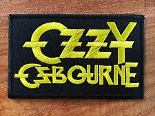 Ozzy Osbourne Sew On Patch Iron Embroidered Rock Band Heavy Metal Music Logo