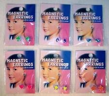 4 MAGNETIC GLOW IN THE DARK EARRINGS new fashion jewelry magnets kids girls