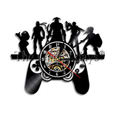 Gamepad Controllers Wall Clock Pop Game Vinyl Record Wall Clock Watch Gamer Gift