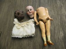 """Antique German Bisque Composition 7"""" Dolly Face 1078 Simon Halbig Jointed Doll"""