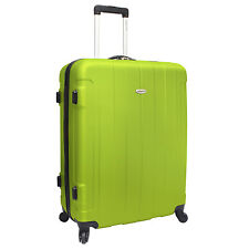"Travelers Choice Rome 29"" Green Lightweight Spinner Travel Luggage Free TSA Lock"