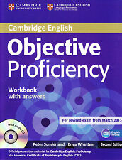 Cambridge OBJECTIVE PROFICIENCY CPE Workbook 2nd Ed w Key&CD Exam from 2013 @NEW