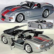 Shelby Series 1 - 1998-2005 plata plata metálico 1:18 Bburago