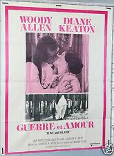 AFFICHE CINEMA FILM 1975 GUERRE ET AMOUR WODDY ALLEN DIANE KEATON LOVE AND DEATH