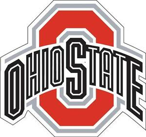 "Buckeyes Ohio State Columbus OSU Car Truck (2) 17"" x 17"" Sticker Decal Corn Hole"