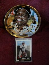 """LEGENDARY"" ""WILLIE MAYS"" ""MEMORABILIA"": ""RARE"" ""COLLECTOR PLATE"" plus ""CARDS"""