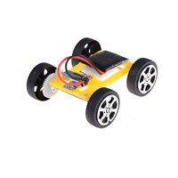Solar Toy Car Mini Assemble DIY Educational Robot Kits Assembly Car Model BDAU