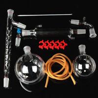 Essential Oil Steam Distillation Kit Graham Condenser All Glassware Clamps 13Pcs