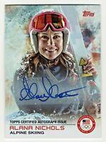 2014 Topps USA Olympic Team Autograph #66 Alana Nichols Alpine Skiing