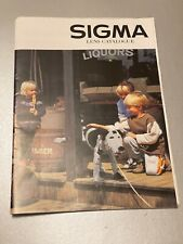 Sigma Lens, A4 Brochure, 2000 Approx, 22 Pages