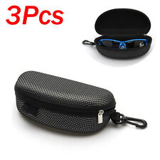 Lots 3Pcs Portable Shell Hard Case Protector Box Zipper Eye Glasses Sunglasses