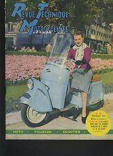 (12B)REVUE TECHNIQUE MOTO CYCLECARS / BERNARDET 250CC / MONNERET/ 200cc à 1000cc