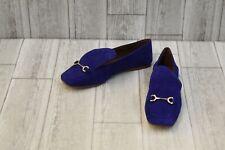 Nine West Yobie Loafers - Women's Size 6M - Dark Blue Suede