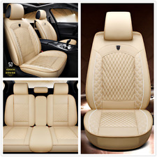 PU Leather Full Set 5D Car Seat Cover Cushion Auto Interior Styling Accessories