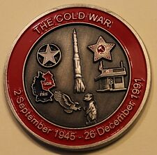Cold War Veteran / VET Army Navy Marine Air Force Coast Guard Challenge Coin  WF