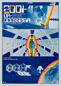 2001: A SPACE ODYSSEY 1968 Stanley Kubrick, Film Cinema Poster Art, Hungarian