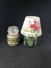 Yankee Candle Small Shade Poinsettias With 2 Candles Balsam & Cedar Bayberry
