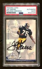 Mean Joe Greene Signed 1994 Ted Williams Card #50 Autograph Steelers PSA/DNA *70