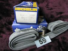 "NOS VINTAGE 2 INNER TUBES MICHELIN  AIRSTOP 20 X 1- 3/8""  CAR TYPE VALVE"