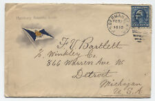1910 US German Sea Post Cover to Detroit 5ct WF [y1321]