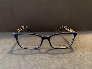 Prada Eyeglasses VPR 18T NEW Color VIB-101 Blue Tortoise Size 53-16-140