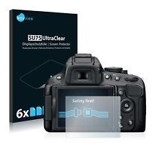 6x Displayschutzfolie für Nikon D5100 Klar Transparent Schutzfolie Displayfolie