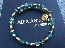 ALEX and ANI Excl QVC VINTAGE 66 HEALING DREAM TEAL GOLD Beaded Wrap BRACELET💎