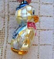 "Radko Blown Glass Ornament Duck In Blue Sailor Suit Dewey Disney? 5"" Red Ribbon"