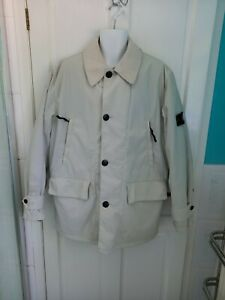 "Men's Vintage Padded Stone Island Cream Jacket + Internal Lining 23"" Pit to Pit"