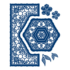 Tattered lace Sweet Nothing Hexagon die (441497)