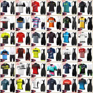 2021 Mens Cycling Jersey Bib Shorts Kits Bike Shirt Pants Clothing Uniforms Set