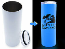 Wholesale 25pcs 20oz Sublimation Blank Straight Skinny Tumblers Glow In The Dark