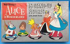 Disney Vintage Alice In Wonderland Stand-Up Figures Cardboard w/ Plastic Bases