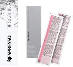 NESPRESSO Descaling Kit PACK of 2 Nespresso Coffee Machine 100% GENUINE FREE P&P