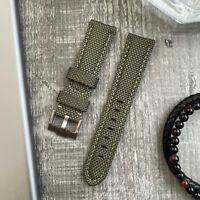 Grün Nylon/Leder Uhr Armband 20mm Für rolex Daytona Uboot Gmt